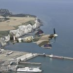 Spitfire white cliffs of Dover