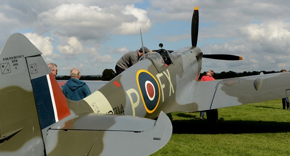 Spitfire HF9 TD314 Ground Viewing Richard Foord Photography Copyright