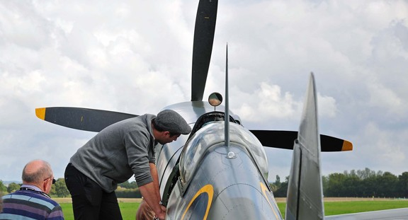 Sit In A Spitfire At Headcorn. Richard Paver Photography Copyright