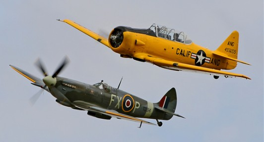 Fly In A Harvard With A Spitfire