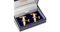 Spitfire Cufflinks Gold