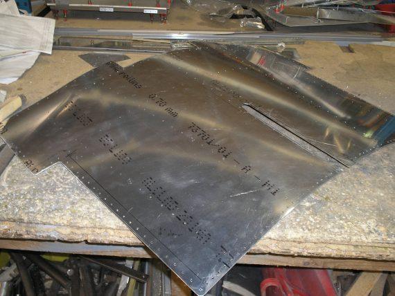 Spitfire Restoration 20 Fuselage skins (2)