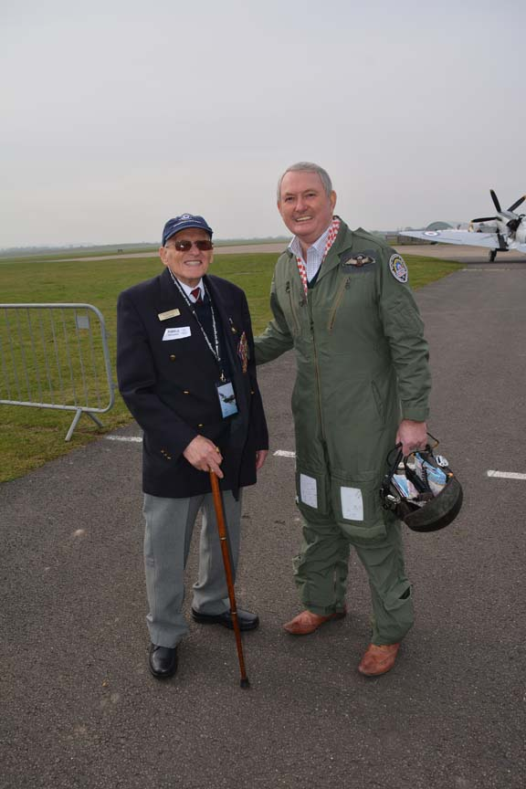 Ron Dearman & Air Chief Marshall Cliff Spink. Photo courtesy of Ady Shaw.