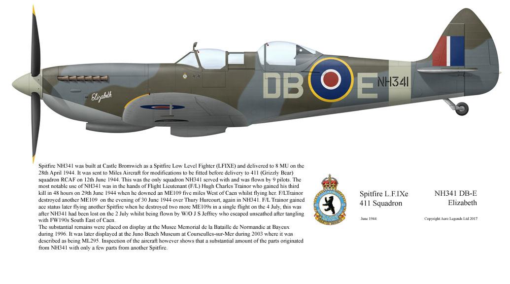 Supermarine Spitfire L.F.IXe NH341 DB-E