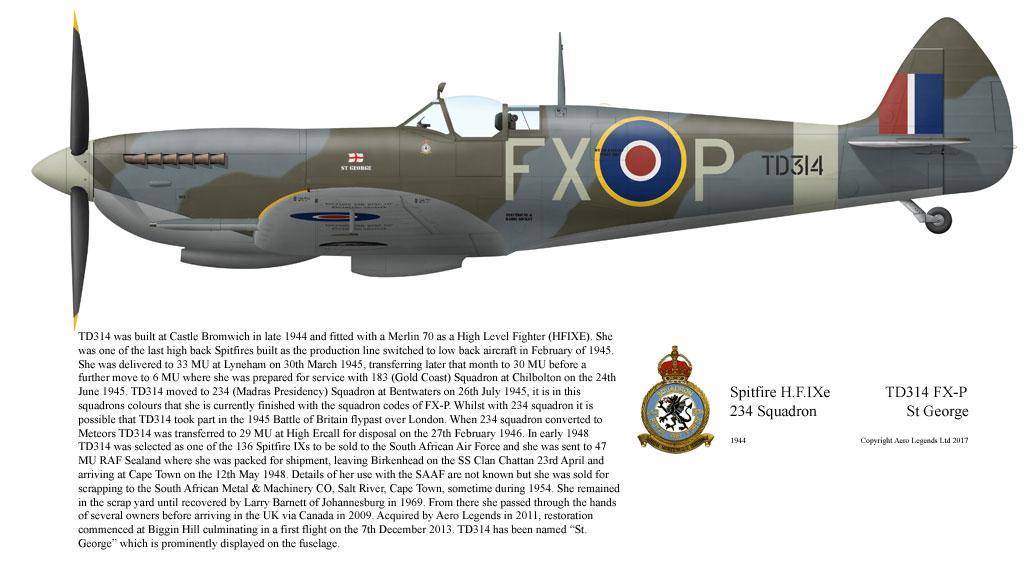 Supermarine Spitfire H.F.IXe TD314 FX-P